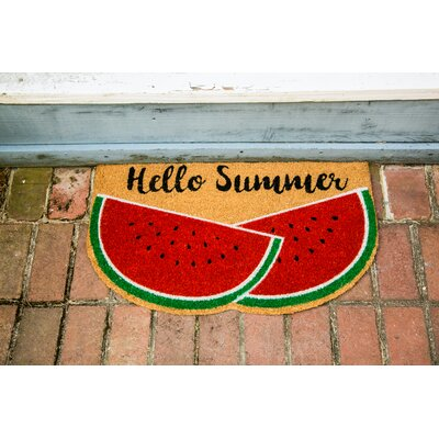 Pavon Watermelon Shaped Coir Doormat