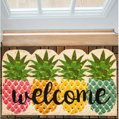 Gorski Pineapples Shaped Coir Doormat