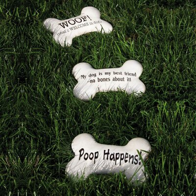 Dog Bone Garden Stepping Stone