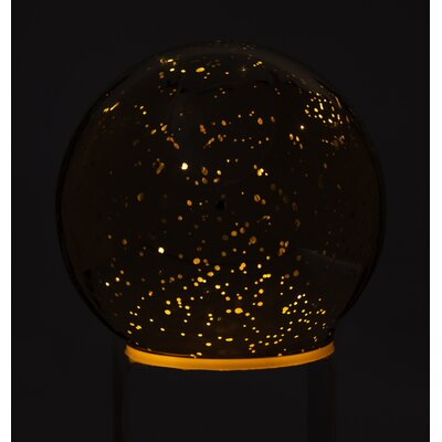 Mercury Glass Light Up Accent Ball Color: Golden