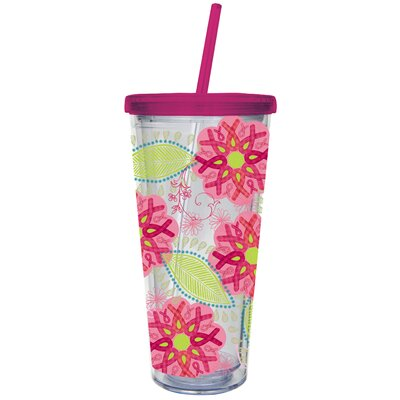Ribbons of Courage 20 oz. Insulated Cup with Straw 3BDM5796
