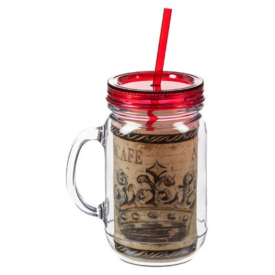 Elegant Farmhouse 20 oz. Double Walled Mason Jar Insulated Cup with Straw 3BK5964