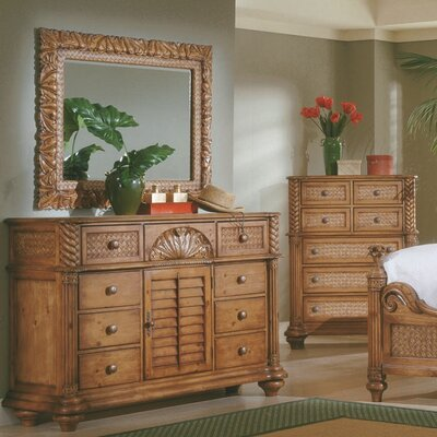 Paradiso 8 Drawer Combo Dresser with Mirror