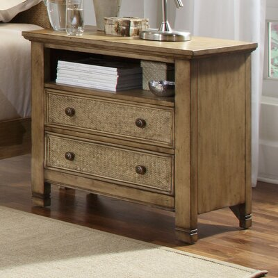 Kingston Isle 2 Drawer Bachelors Chest Color: Sand