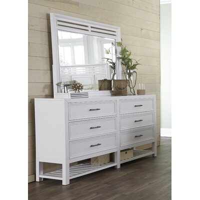 Lansing 6 Drawer Double Dresser with Mirror