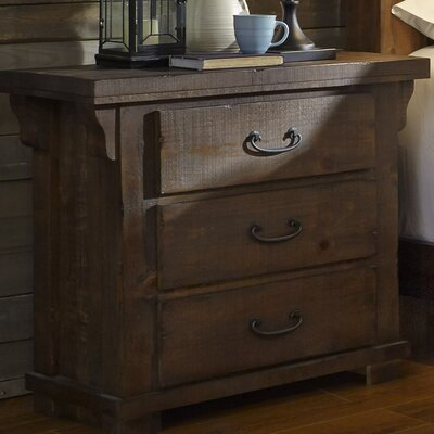 Buckleys 3 Drawer Nightstand