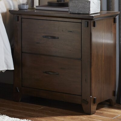 Batten 2 Drawer Nightstand