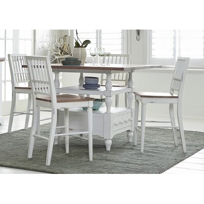 Galliano 5 Piece Wood Dining Set