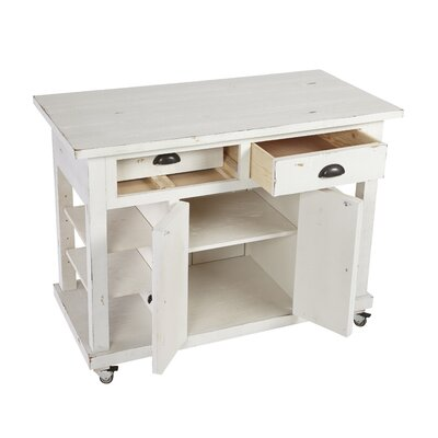 Benedetto Kitchen Island with Door Finish: White