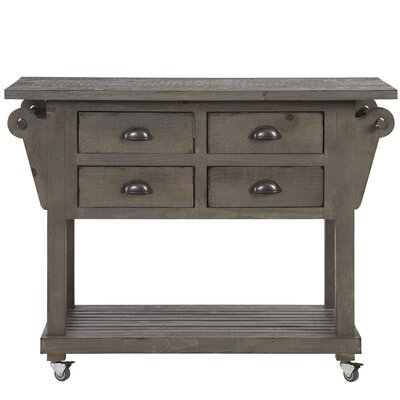 Benedetto Kitchen Island with Drawer Finish: Dark Gray