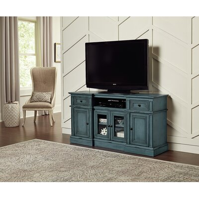 Albertyne TV Stand Color: Aged Blue, Width of TV Stand: 72 W