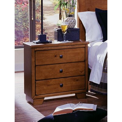 Loughran 3 Drawer Nightstand Color: Cinnamon Pine