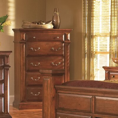 Torreon 5 Drawer Chest Color: Antique Pine