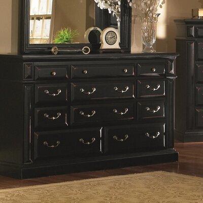 Torreon 11 Drawer Standard Dresser Color: Antique Black