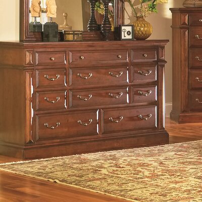 Torreon 11 Drawer Standard Dresser Finish: Antique Pine