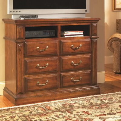 Torreon 6 Drawer Media Chest Color: Antique Pine