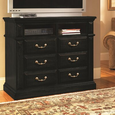 Torreon 6 Drawer Media Chest Finish: Antique Black