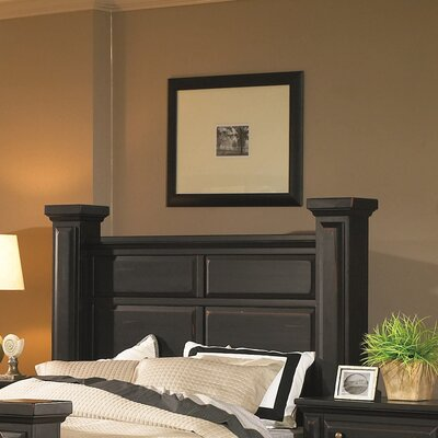 Torreon Panel Headboard Size: King, Finish: Antique Black