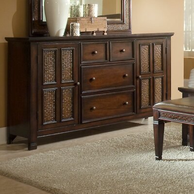 Kingston Isle 4 Drawer Combo Dresser Finish: Havana Brown