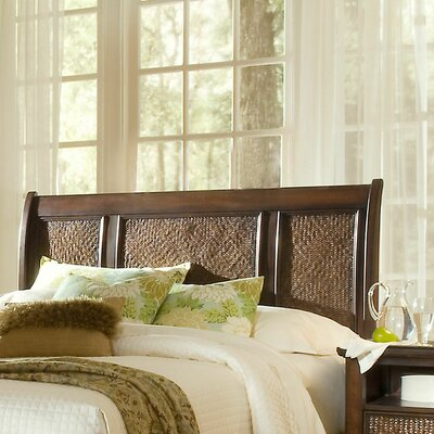 Kingston Isle Sleigh Headboard Size: King, Finish: Havana Brown