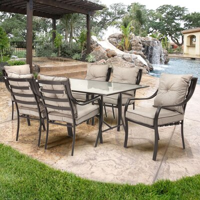 Lavallette 7 Piece Outdoor Dining Set with Cushions