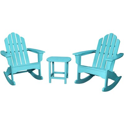 3 Piece Rocking Adirondack Seating Group Finish: Aruba