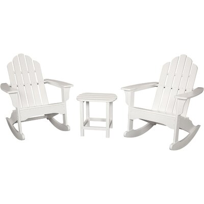 3 Piece Rocking Adirondack Seating Group Finish: White