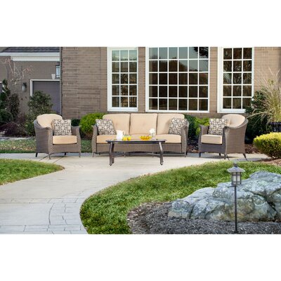 Gramercy 4 Piece Deep Seating Group with Cushions Fabric: Country Cork