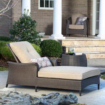 Gramercy Chaise Lounge & Table with Cushions Fabric: Country Cork