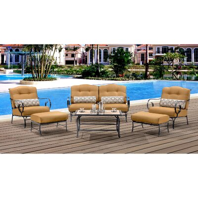Oceana 6 Piece Deep Seating Group with Cushions Color: Country Cork