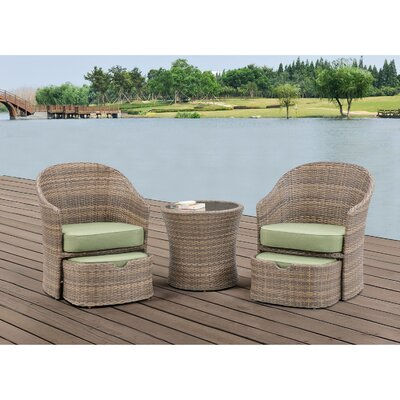 Seneca 5 Piece Seating Group with cushion Color: Cilantro Green