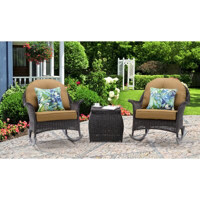 San Marino 3 Piece Rocker Seating Group with Cushions Fabric: Country Cork