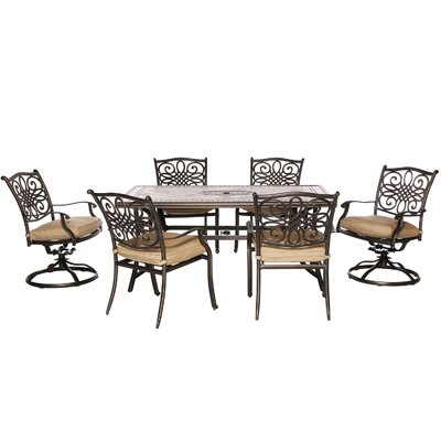 Hanover Monaco 7 Piece Dining Set with Cushions