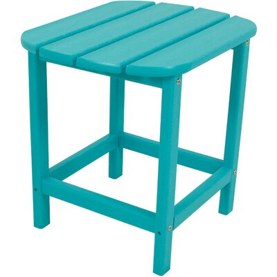 Grafton All-Weather End Table Color: Aruba