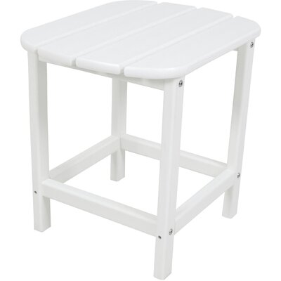 All-Weather End Table Color: White