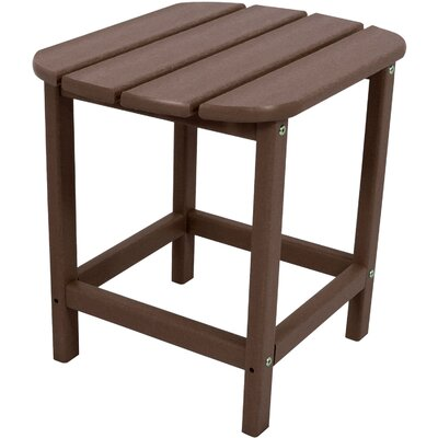 Grafton All-Weather End Table Color: Mahogany