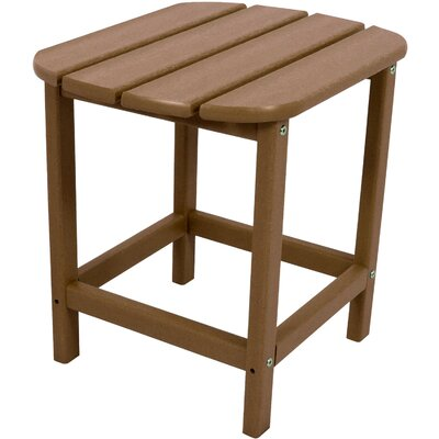 Grafton All-Weather End Table Color: Teak