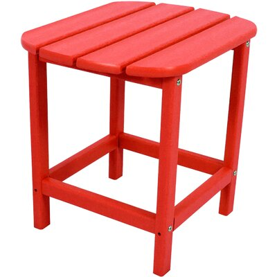All-Weather End Table Color: Sunset Red