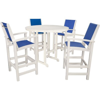 Nassau 5 Piece Bar Set Finish: Royal Blue