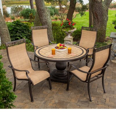 Barryton 5 Piece Outdoor Dining Set