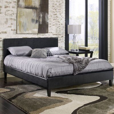 Downtown Bed Frame Size: Full, Color: Black