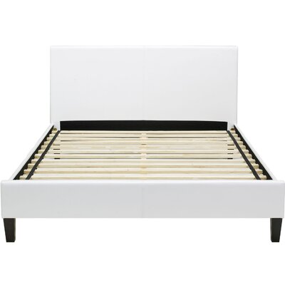 Lewter Bed Frame Size: Queen, Color: White