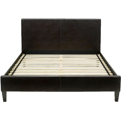 Lewter Bed Frame Size: Full, Color: Brown