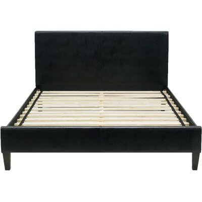 Downtown Bed Frame Color: Black, Size: Queen