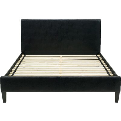 Lewter Bed Frame Size: Twin, Color: Black