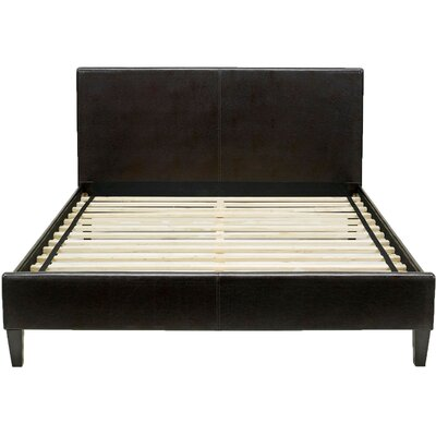 Lewter Bed Frame Size: Twin, Color: Brown