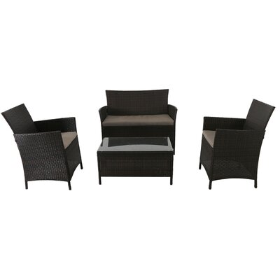 Southport 4 Piece Deep Seating Group with Cushion