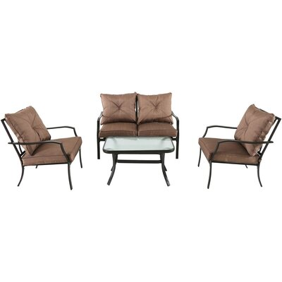 Palm Bay 4 Piece Deep Seating Group with Cushions