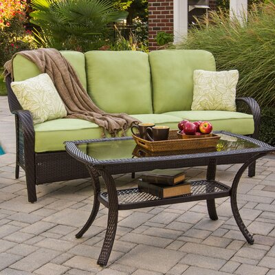 Orleans 2 Piece Deep Seating Group with Cushions Color: Avocado Green