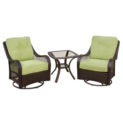 Orleans 3 Piece Deep Seating Group with Cushions Color: Avocado Green